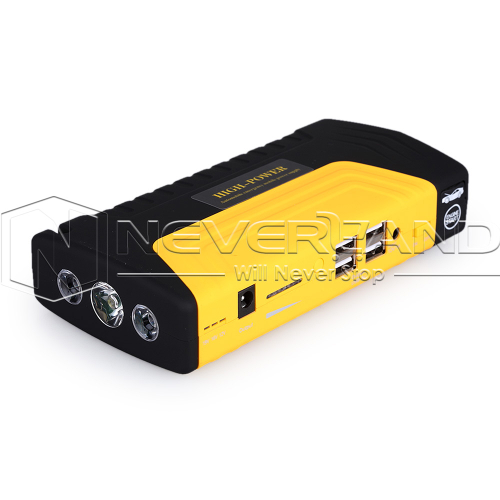 car jump starter pack booster charger battery pack power bank 4 usb 68800mah ebay. Black Bedroom Furniture Sets. Home Design Ideas
