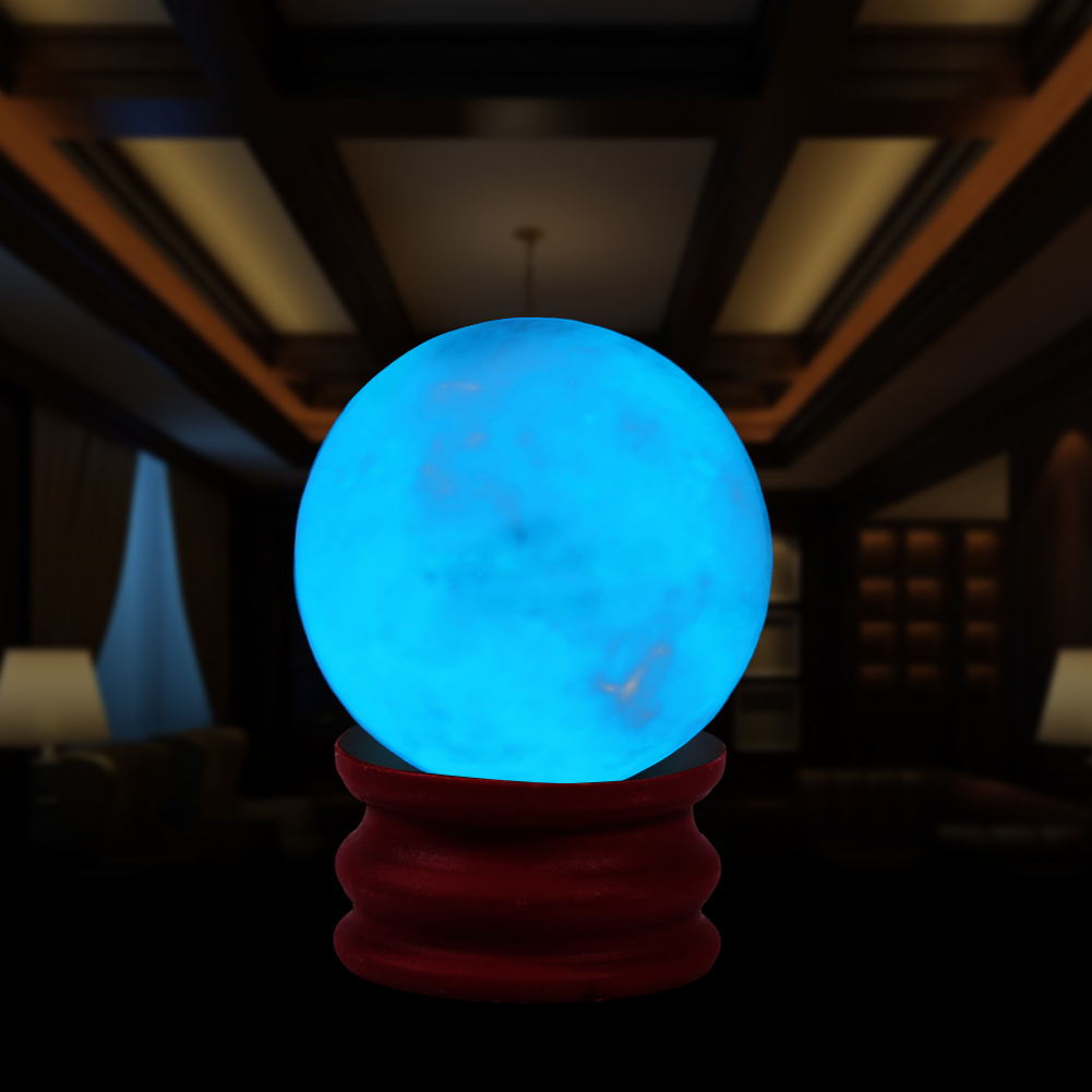 Luminous In Dark Quartz Crystal Sphere Ball Fluorescent