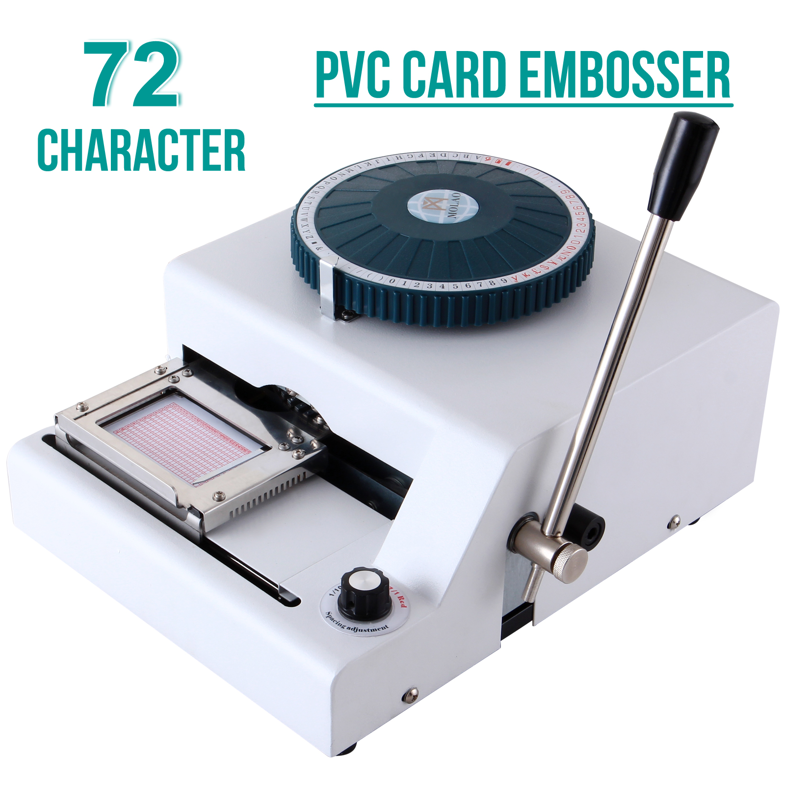 72 Character Letter Manual Embosser Stamping Machine Embossing PVC ...