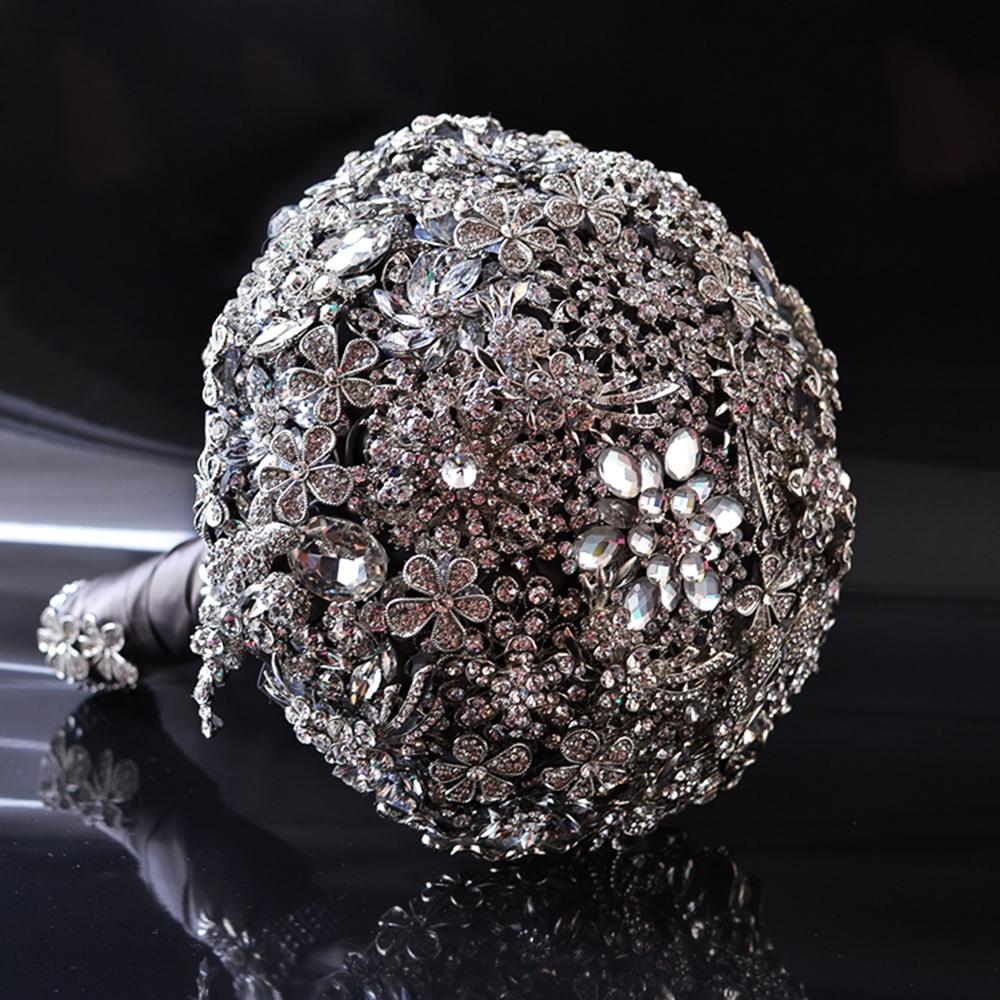 new handmade luxury rhinestone crystal brooch bride wedding bouquet decorations ebay. Black Bedroom Furniture Sets. Home Design Ideas