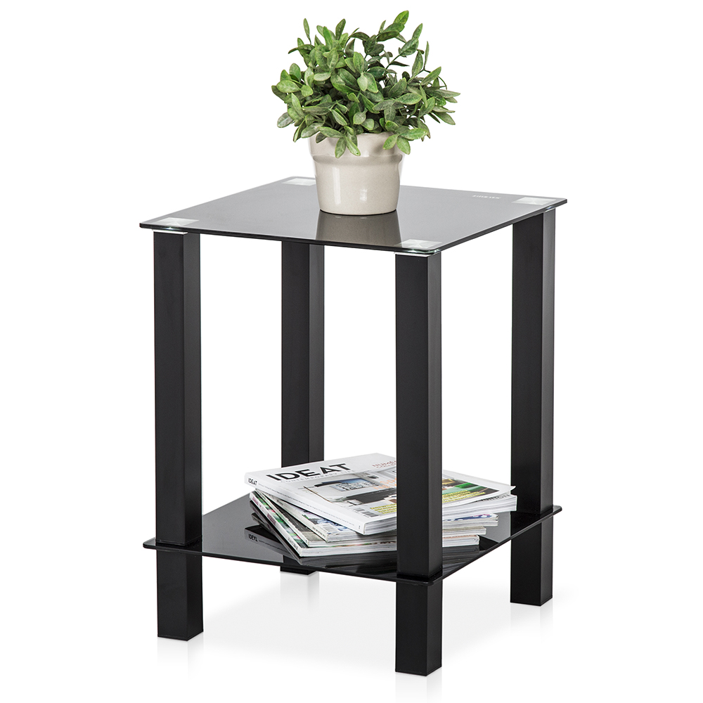 Fitueyes Desktop Tables Storage Shelf Living Room Furniture Small Coffee Table Ebay
