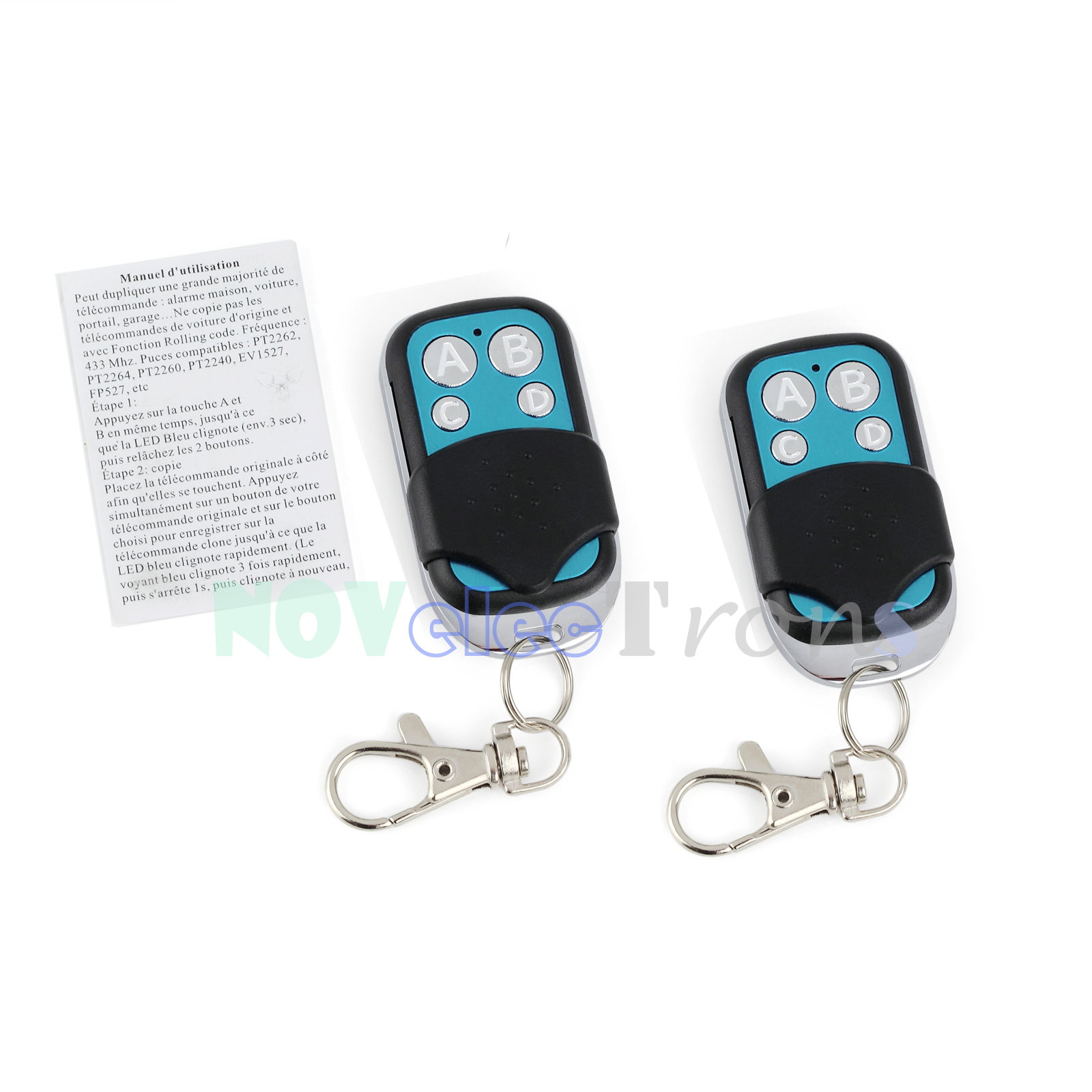 Garage Door Light Blinks Five Times: 2xUniversal Electric Gate Remote Control Fob Cloning Key