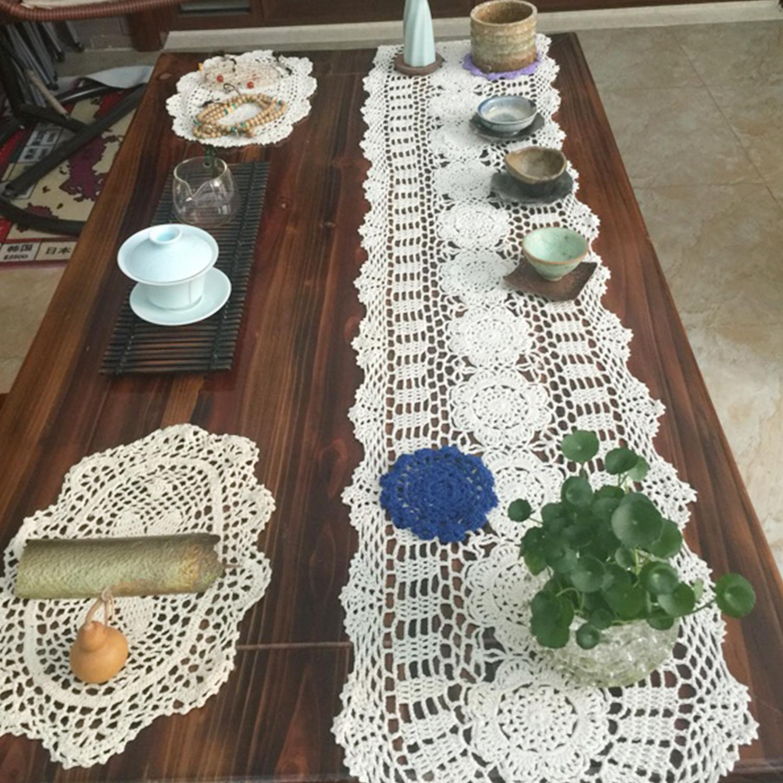 Crochet Lace Book Cover ~ Lace hollowtable runner hand crochet cotton retro desktop