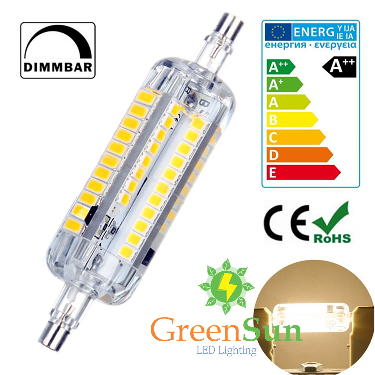 de r7s led dimmbar 10w 15w 78mm 118mm 2835smd lampe. Black Bedroom Furniture Sets. Home Design Ideas