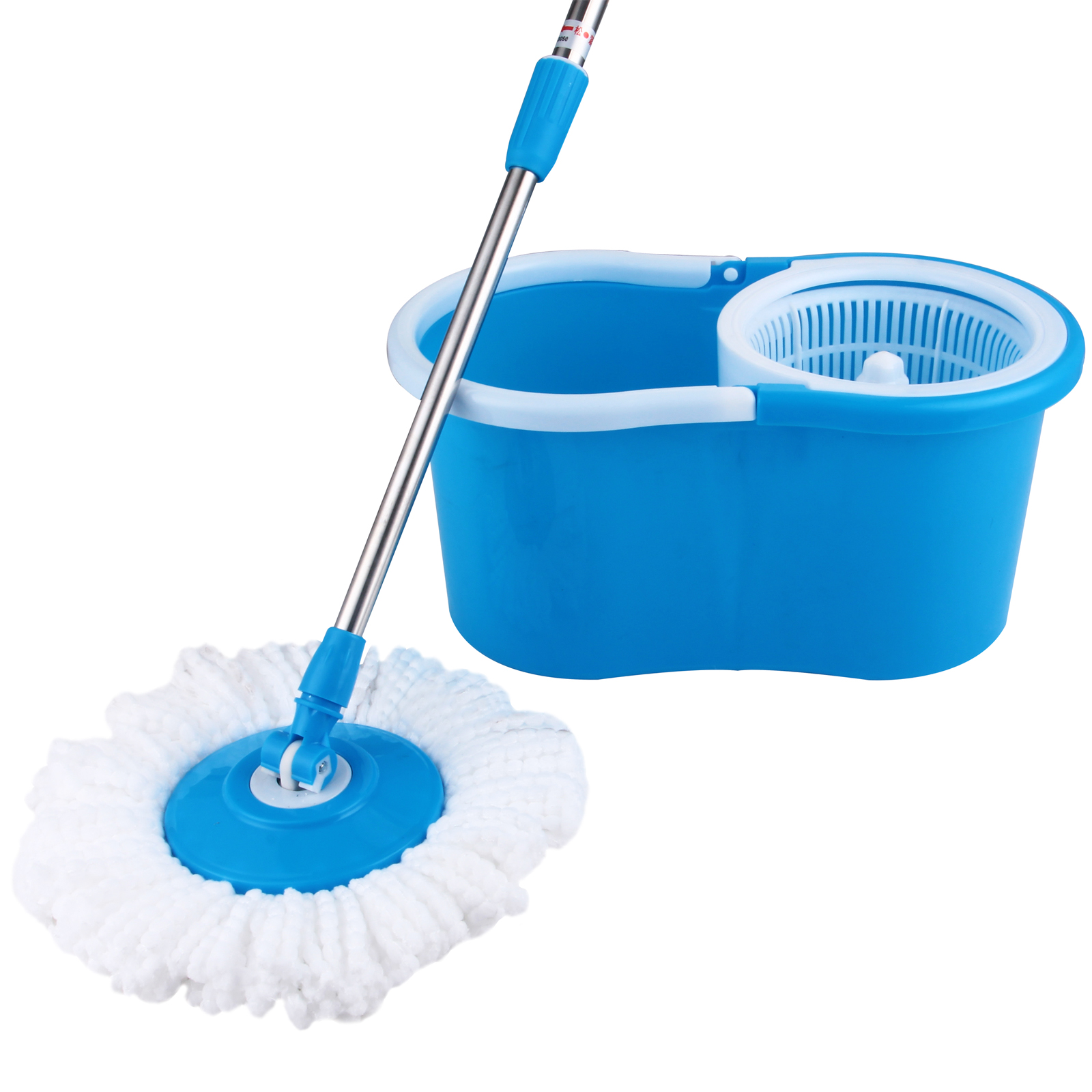 Split Spray Floor Mop: Microfiber 2 Heads 360° Spinning Floor Mop Magic Spin Easy