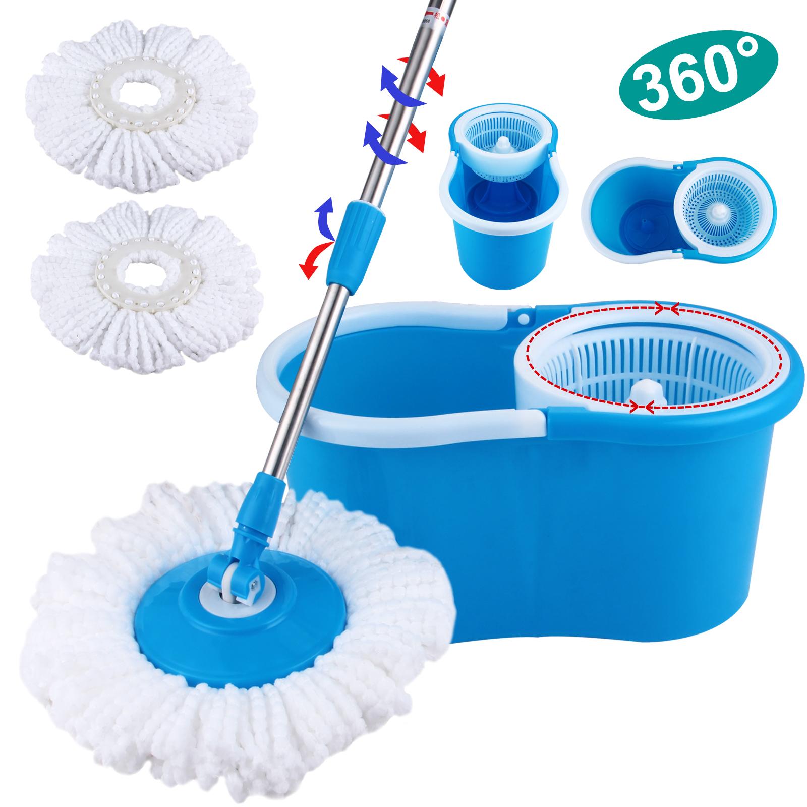 Microfiber 2 Heads 360 176 Spinning Floor Mop Magic Spin Easy
