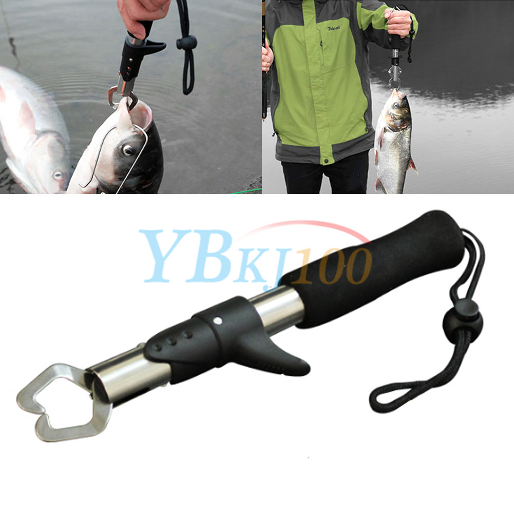 Fishing gripper stainless steel fish lip grabber tackle for Fish gripper scale