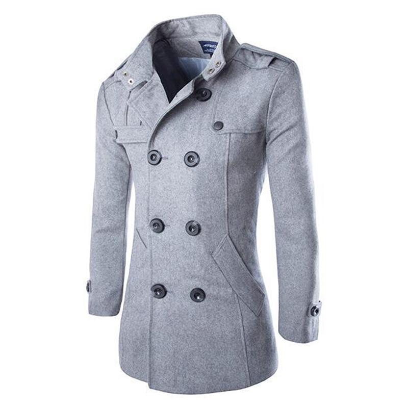 mantel herren winter jacke coat caban kurzmantel cabanjacke peacoat ebay. Black Bedroom Furniture Sets. Home Design Ideas