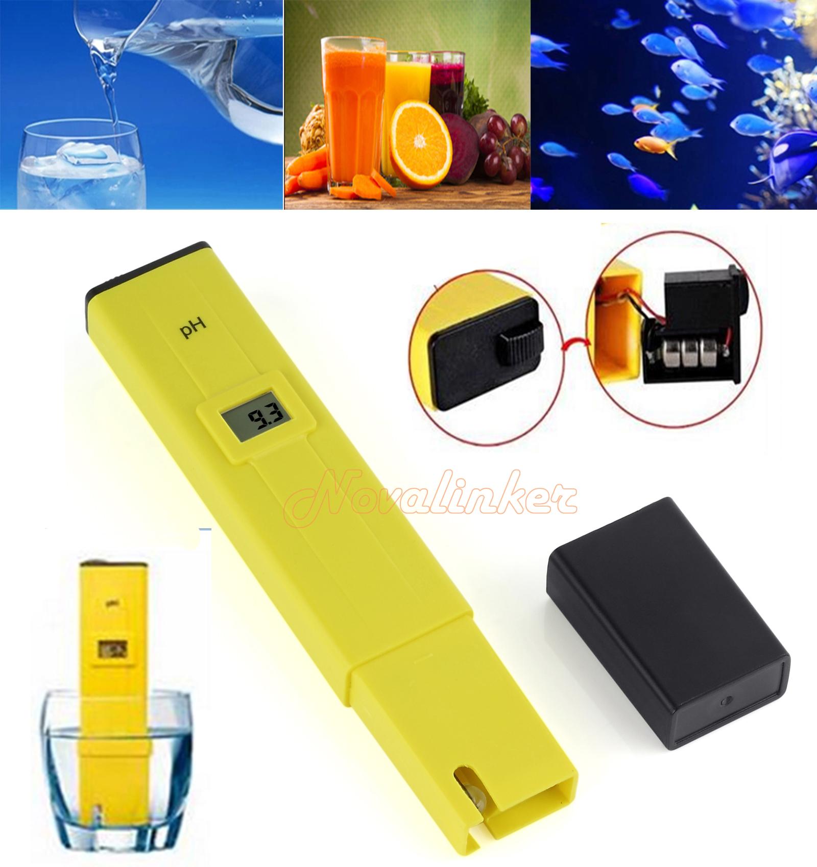 Digital Ph Meter Tester Portable Water Hydroponics Pen Pool Aquarium Test Kit Au Ebay