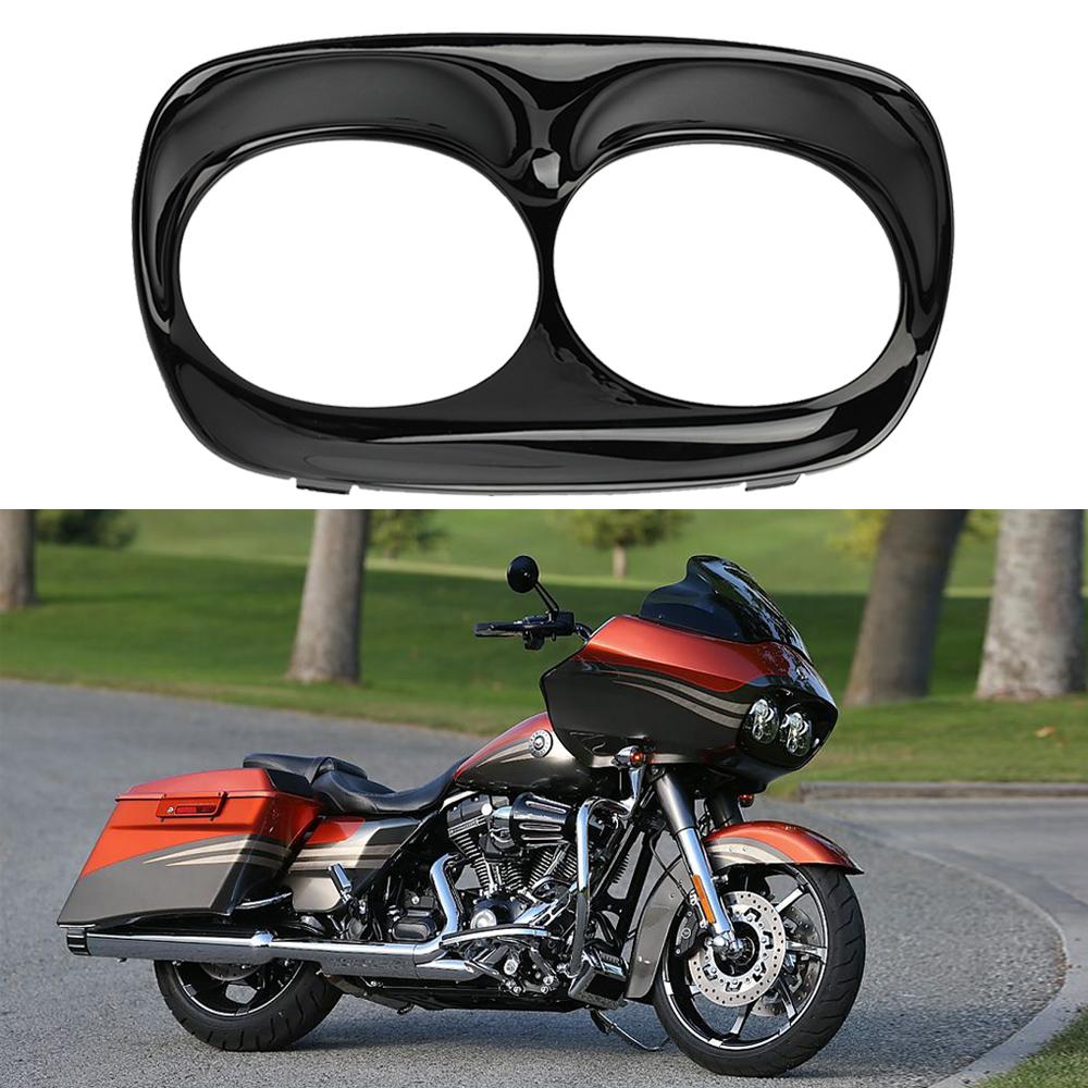Motor Headlight Bezel Scowl Outer Fairing Cover for Harley Road Glide Custom