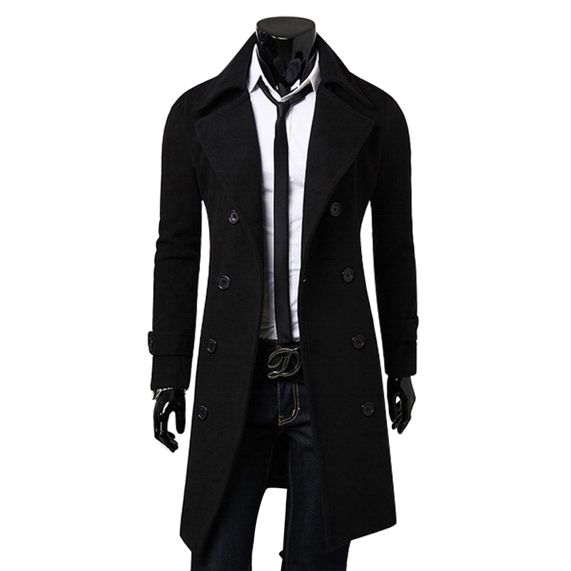 herren mantel business jacke sakko wintermantel business lang trenchcoat m 3xl ebay. Black Bedroom Furniture Sets. Home Design Ideas