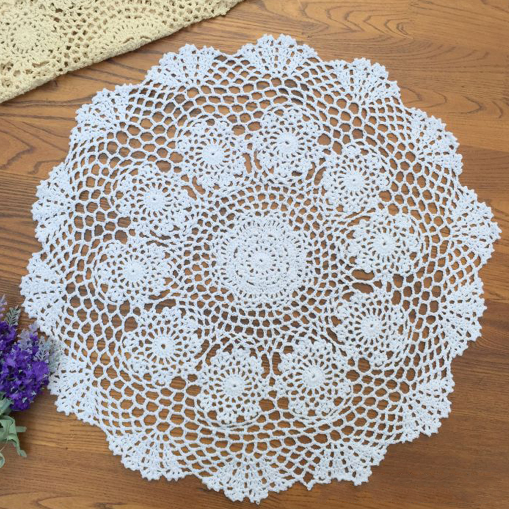 Tablecloth Doily Table Cloth Handmade Crochet Lace Cotton Cover Mat ...