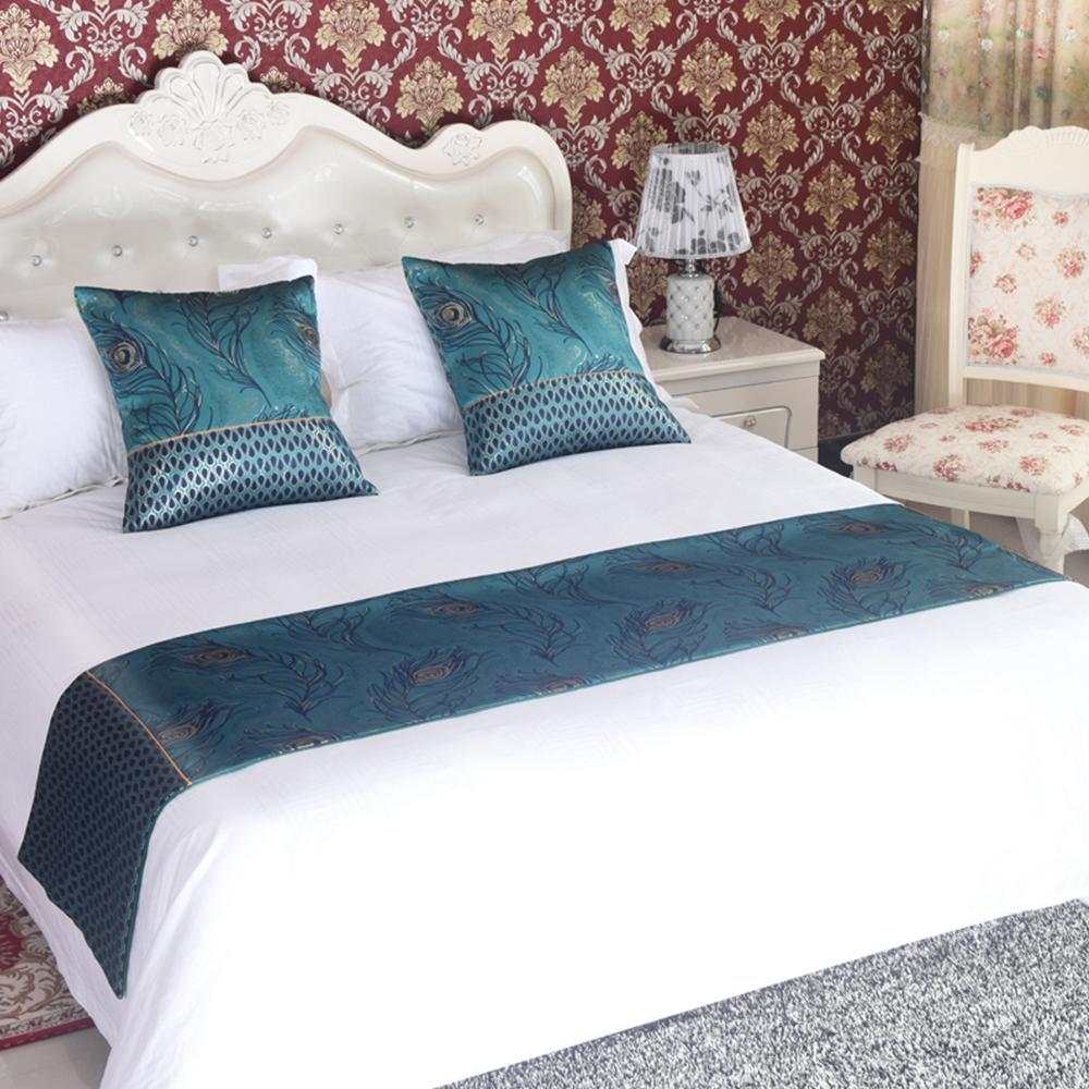vintage bed runner two layers home hotel bedroom bedding decoration towel flag ebay. Black Bedroom Furniture Sets. Home Design Ideas