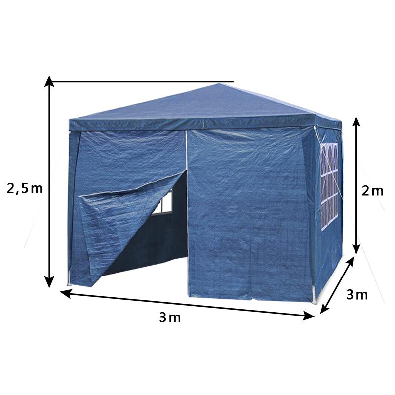 3x3m pavillon blau gartenzelt bierzelt camping partyzelt for Garage opel orleans