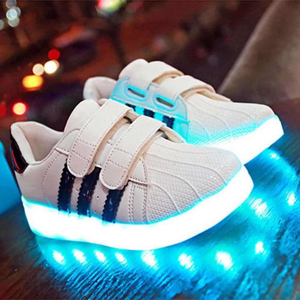 SAGUARO UK Kids Led Shoes Light Up Luminous Trainers