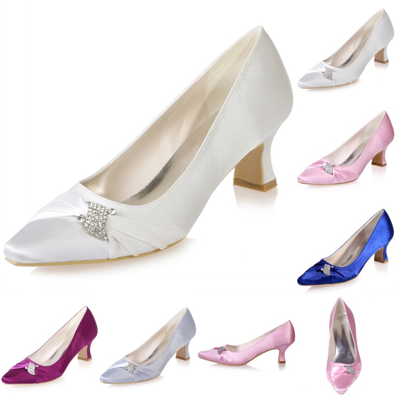 pointed toe wedding bridal shoes prom