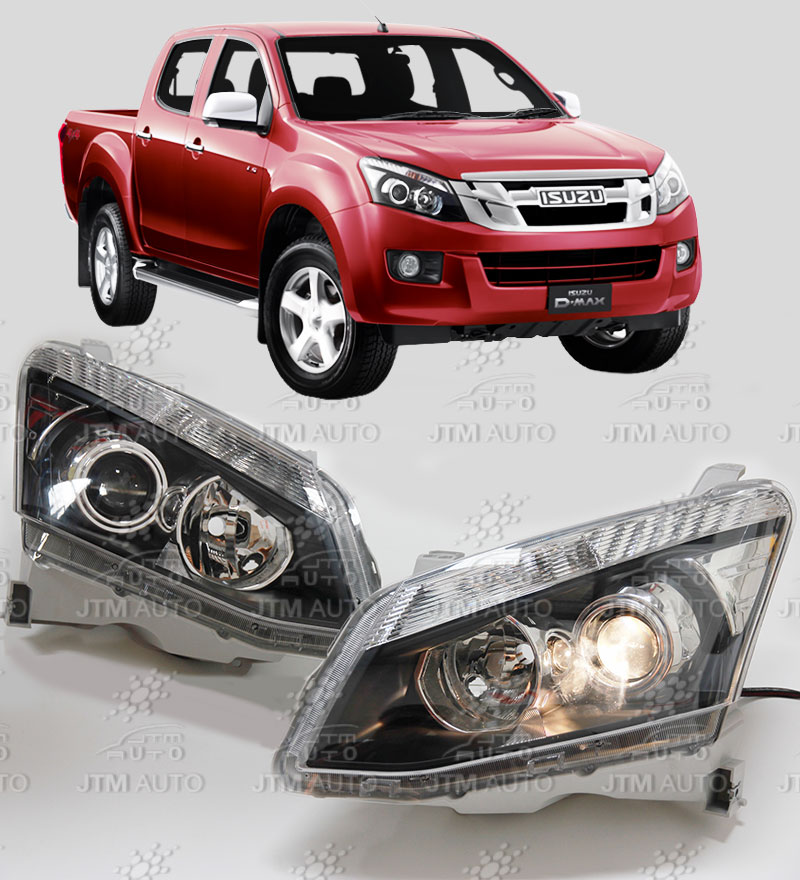 Premium Isuzu D-max DMAX LH+RH Projector Head Lights 2012-2016