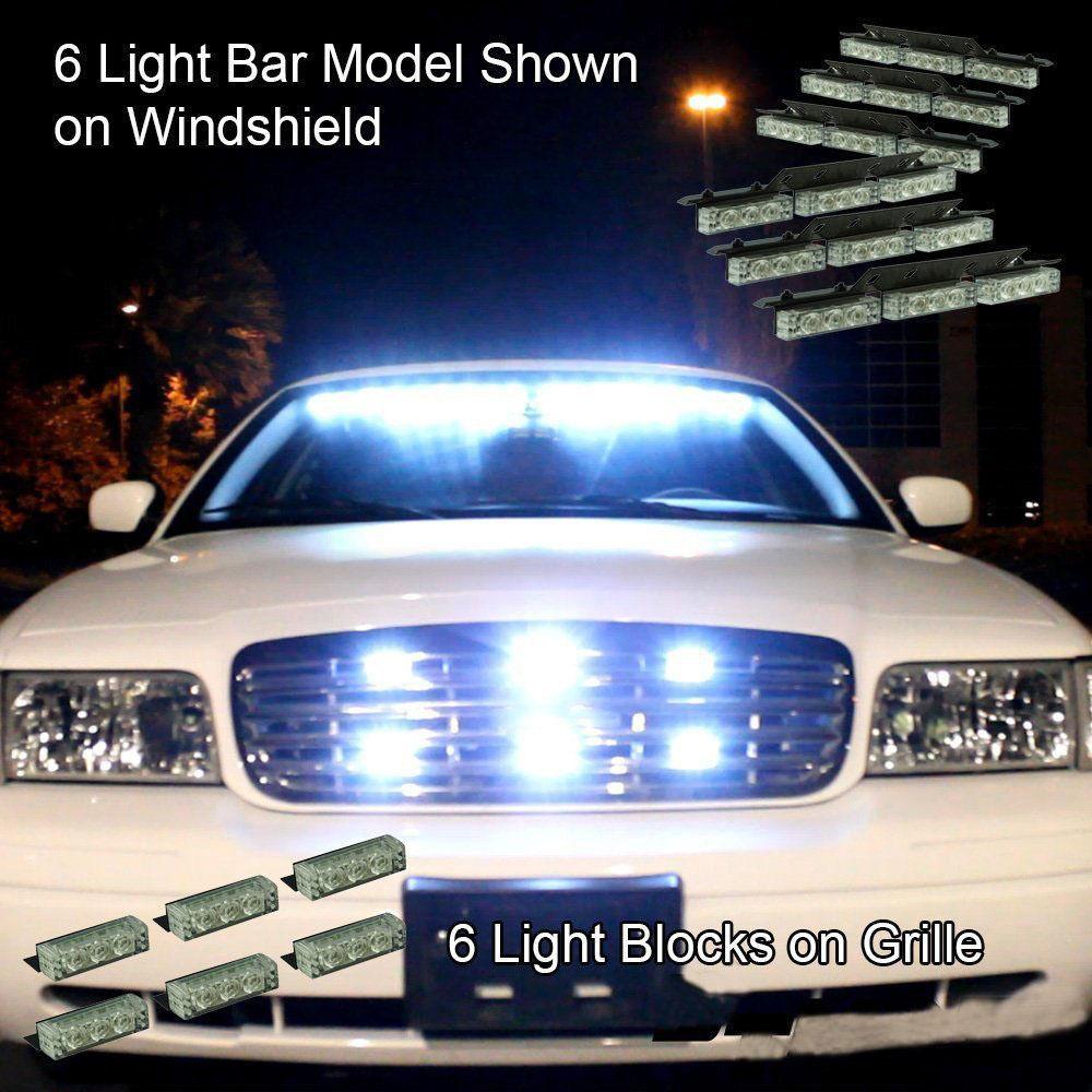 8x9 72 led grill white emergency warning light bar dash. Black Bedroom Furniture Sets. Home Design Ideas