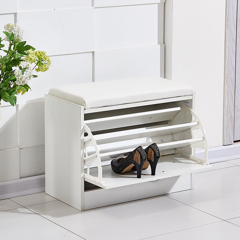 Foyer Closet Uk : New white shoe storage cabinet rack closet pu seat bench