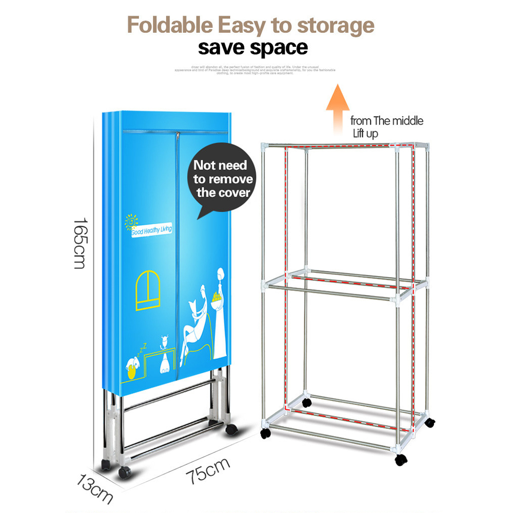 Portable Electric Clothing Dryer 1000w Heater Ventless