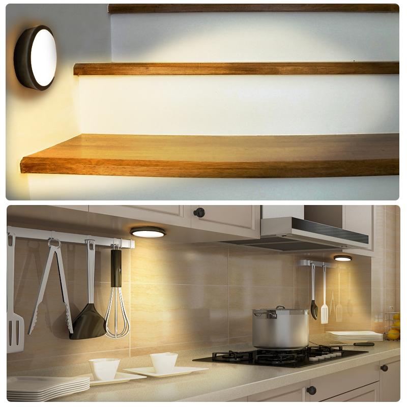 2x led notte lampada luce notte con rilevatore di movimento sensore lampada luce sottostruttura. Black Bedroom Furniture Sets. Home Design Ideas