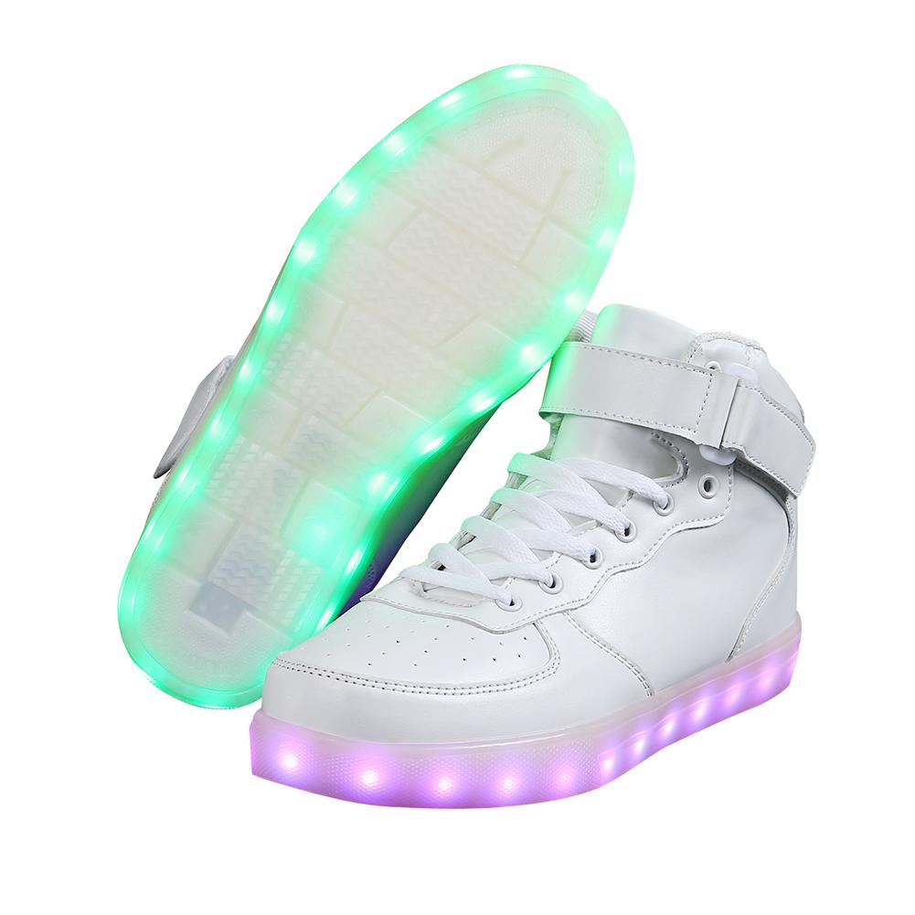led schuhe licht herren damen farbwechsel leuchtende blinkende sneaker unisex ebay. Black Bedroom Furniture Sets. Home Design Ideas