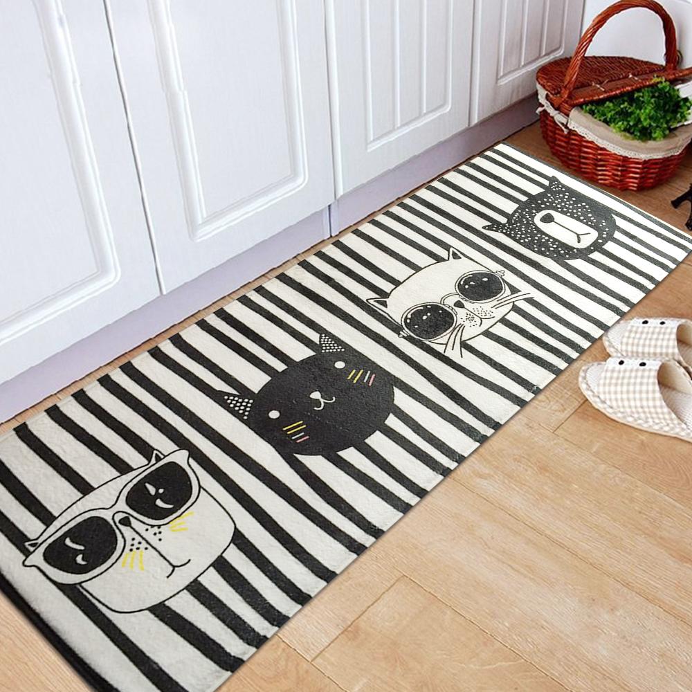 Outdoor Indoor Long Doormat Carpet Soft Flannel Floor Mat