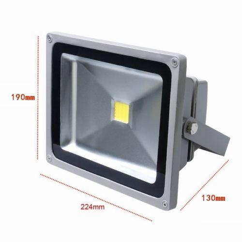 led 5x 30w au enbeleuchtung strahler fluter licht silber kaltwei scheinwerfer ebay. Black Bedroom Furniture Sets. Home Design Ideas