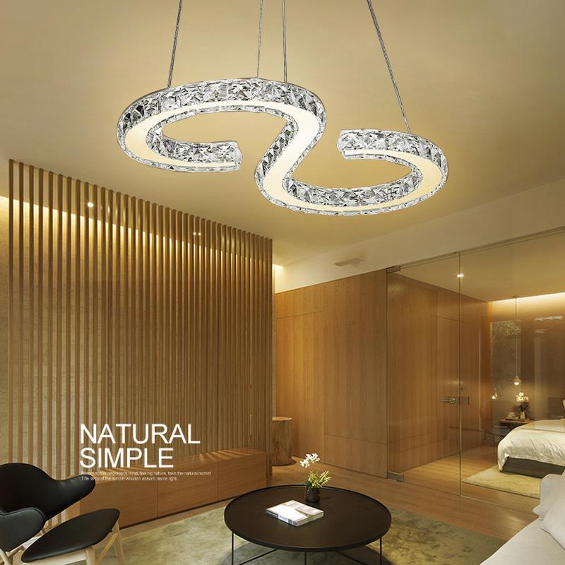 kristall led deckenlampe pendelleuchte warmwei kronleuchter s 32w h ngelampe ebay. Black Bedroom Furniture Sets. Home Design Ideas