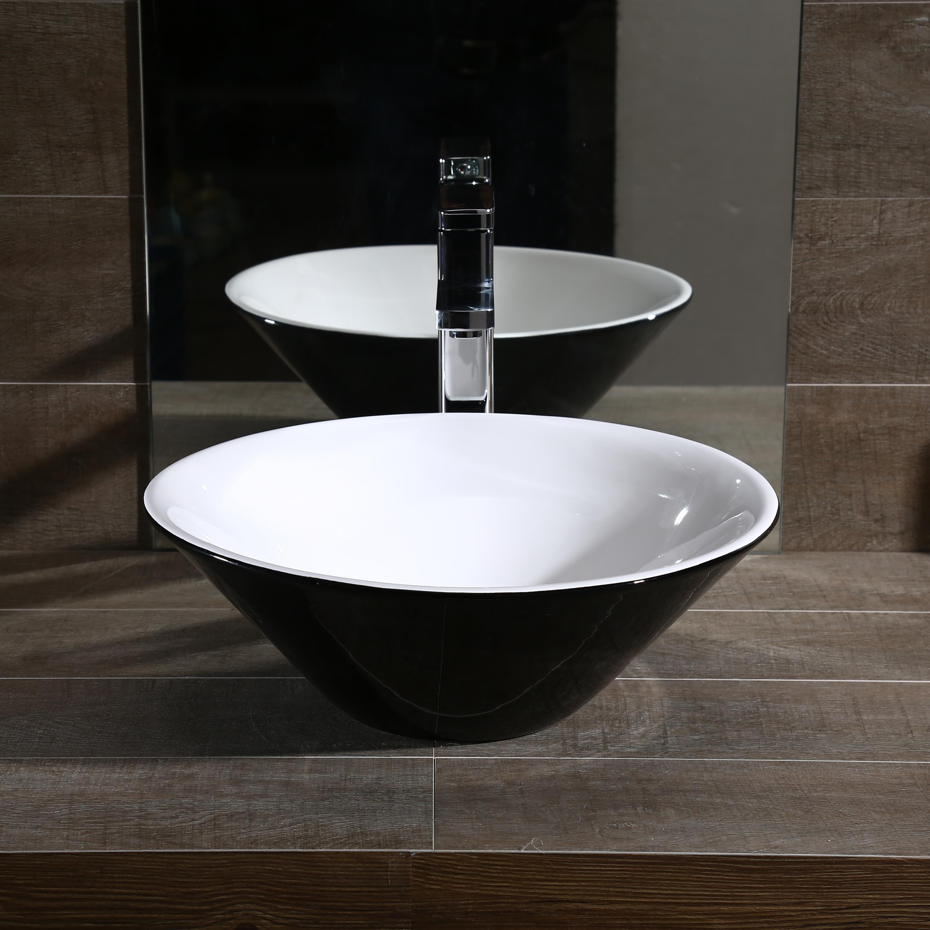New Simple Porcelain Round Above Counter Top Bathroom ...