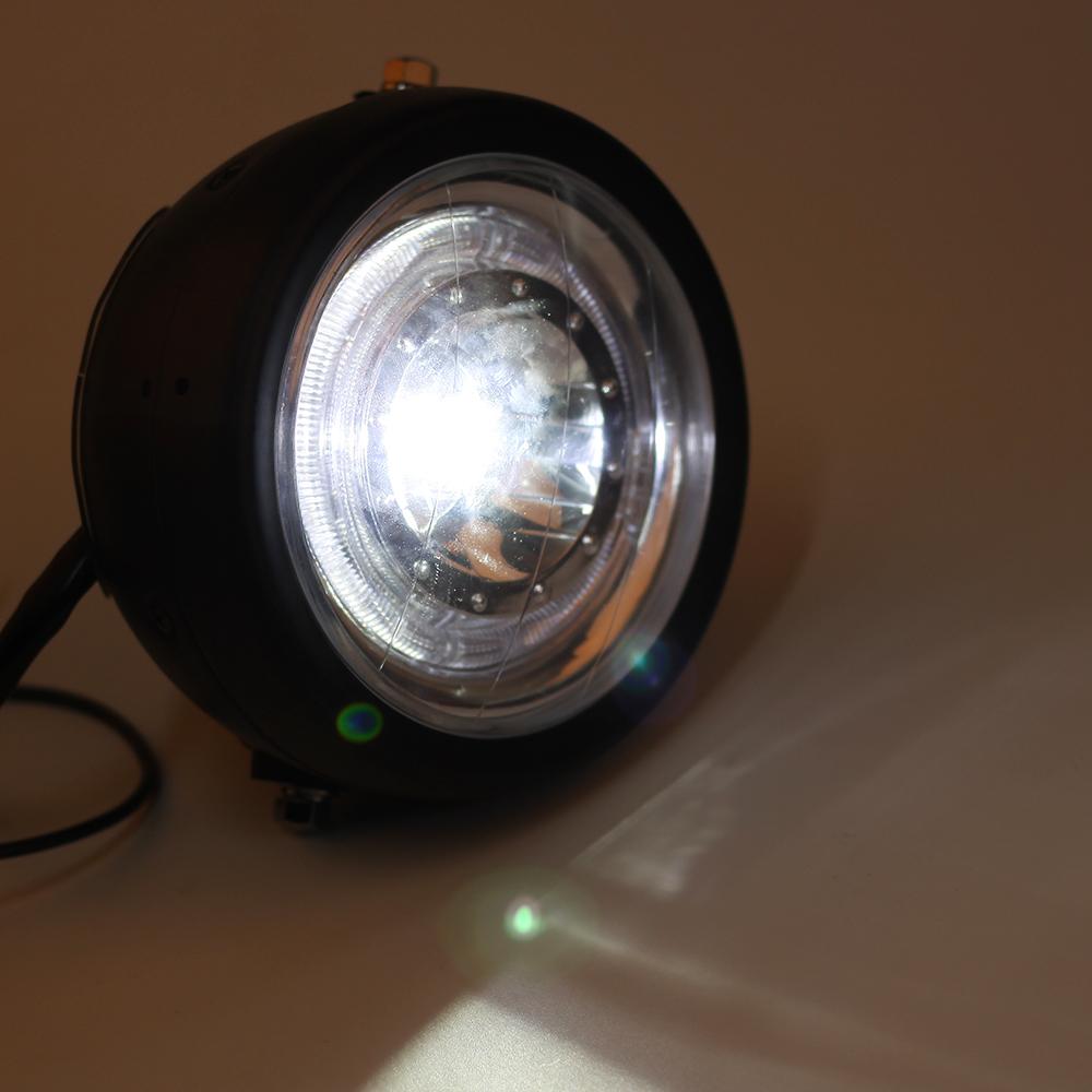 5 5 cob led motorrad scheinwerfer mit angel eye atv. Black Bedroom Furniture Sets. Home Design Ideas