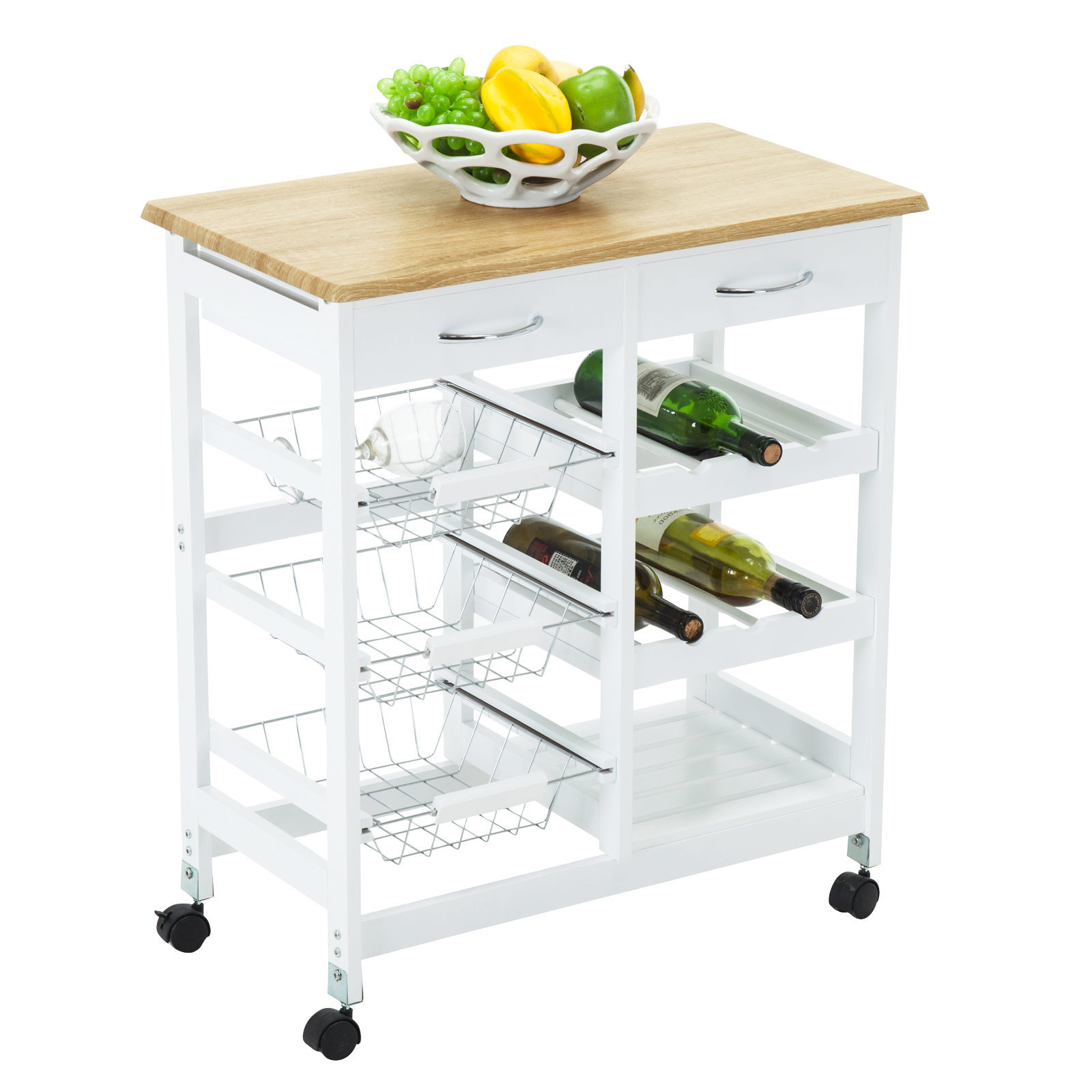 rolling cart with drawers oak kitchen island cart trolley portable rolling storage 25618