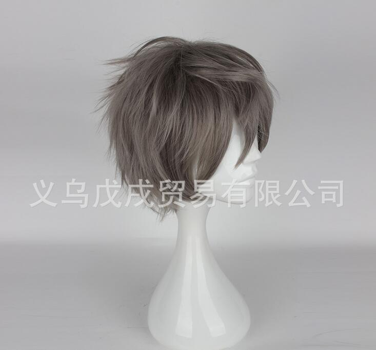Cuticle Detective Inaba Wine Red Short Wig Men Cosplay Stage Show Club Bar  L39#