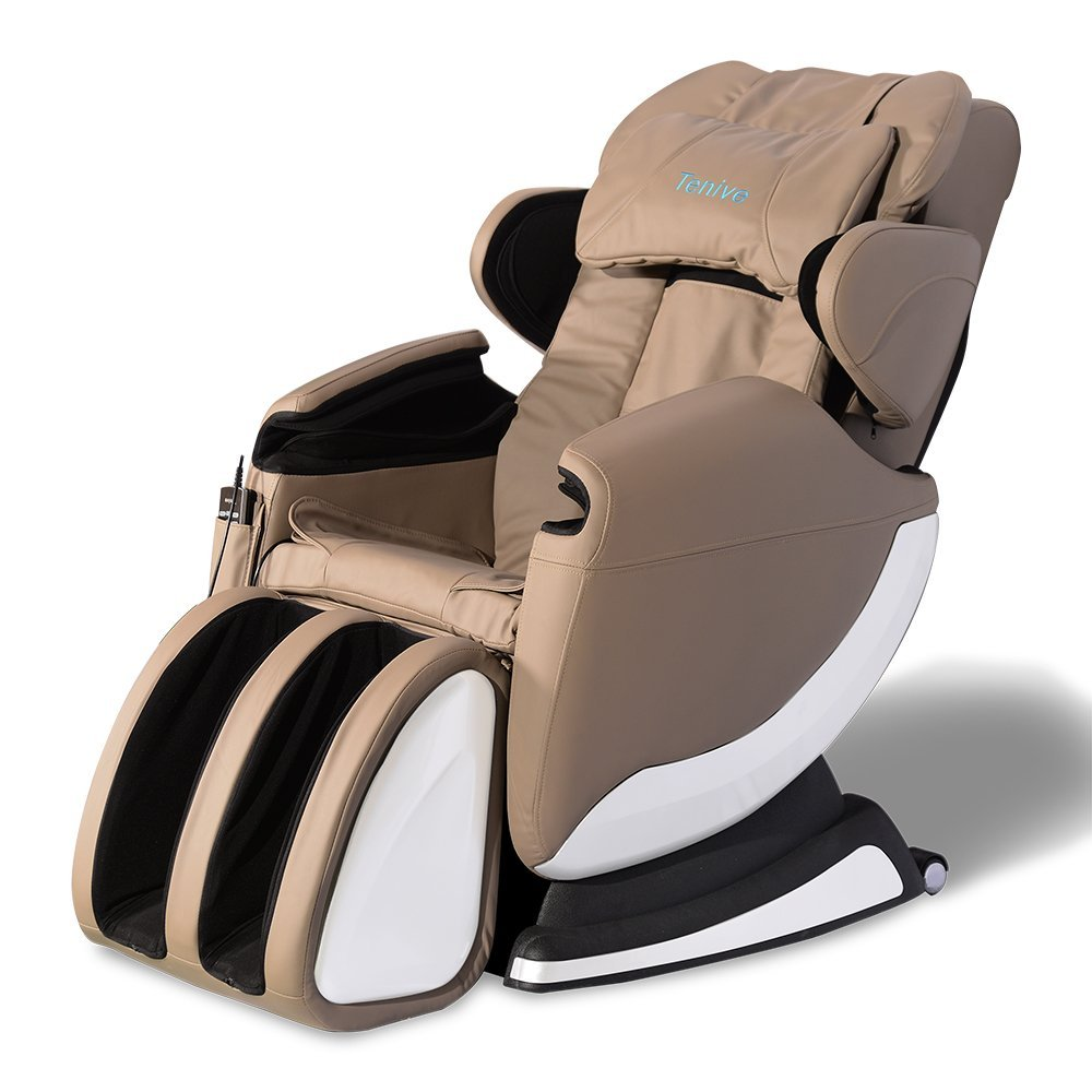 tenive full body zero gravity shiatsu massage chair recliner wheat khaki new ebay