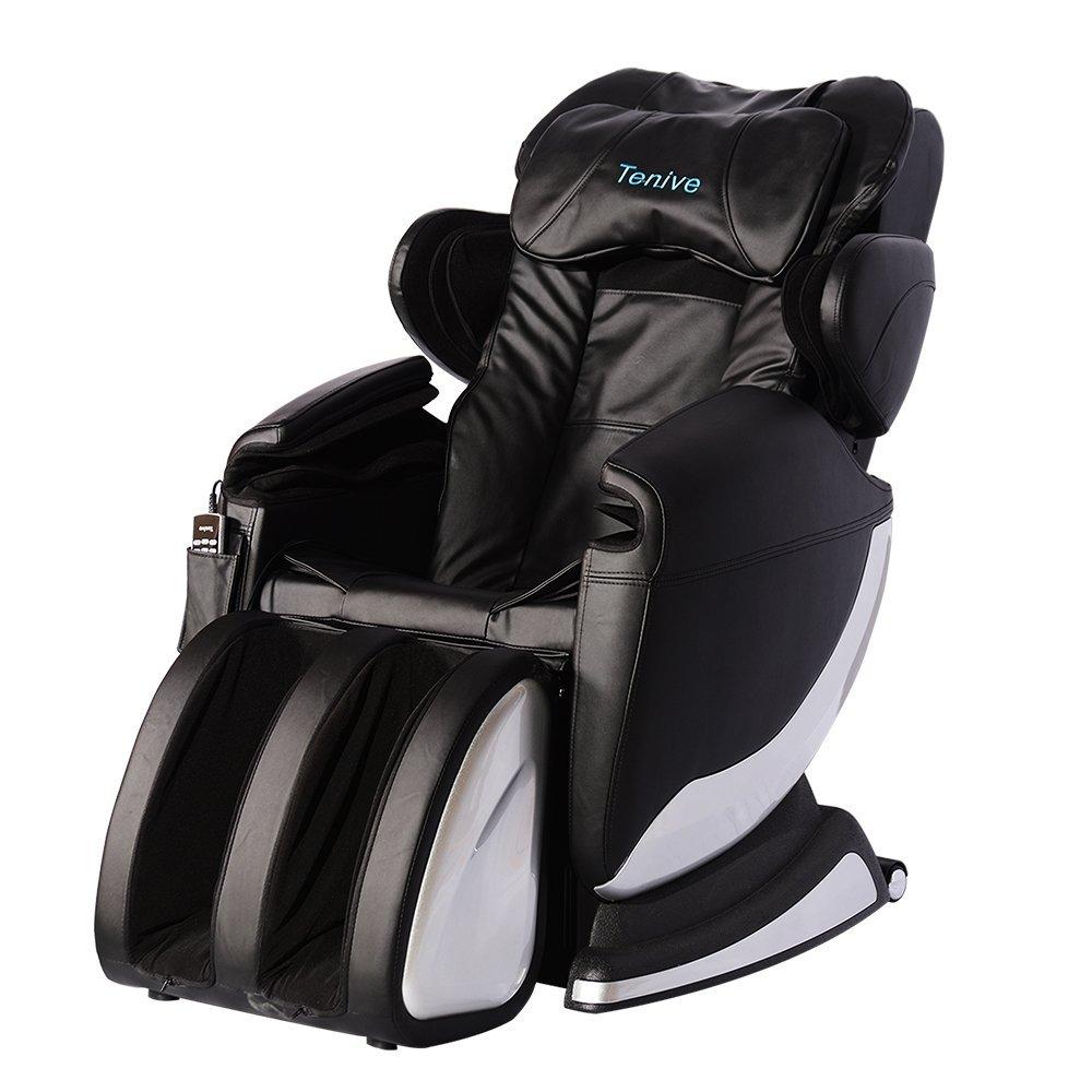 Tenive full body zero gravity shiatsu massage chair for Full body shiatsu massage mat