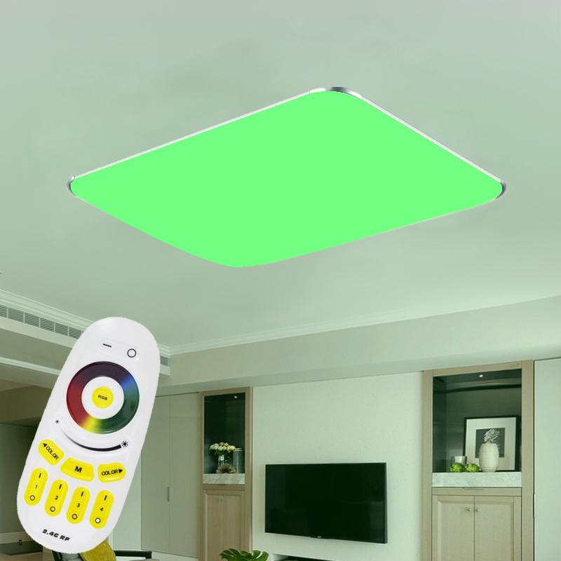 led deckenleuchte rgb dimmbar panel deckenlampe ultraslim wandlampe kontroller ebay. Black Bedroom Furniture Sets. Home Design Ideas