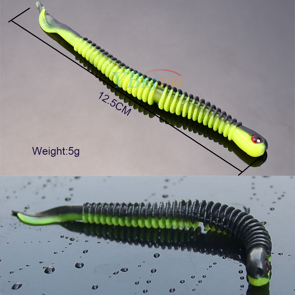 1pc soft long fishing bait worm lures crankbaits hooks for Worms for fishing bait