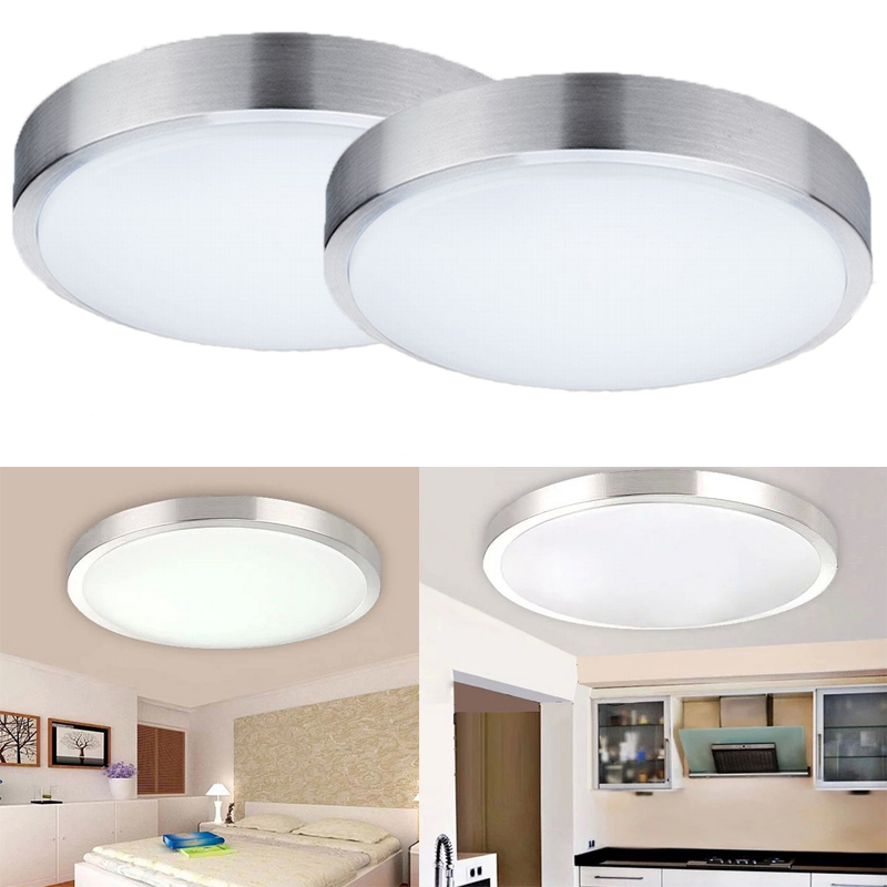 2x 15w rund led deckenleuchte wandlampe innenleuchte ip44 kaltwei kunstoff ebay. Black Bedroom Furniture Sets. Home Design Ideas