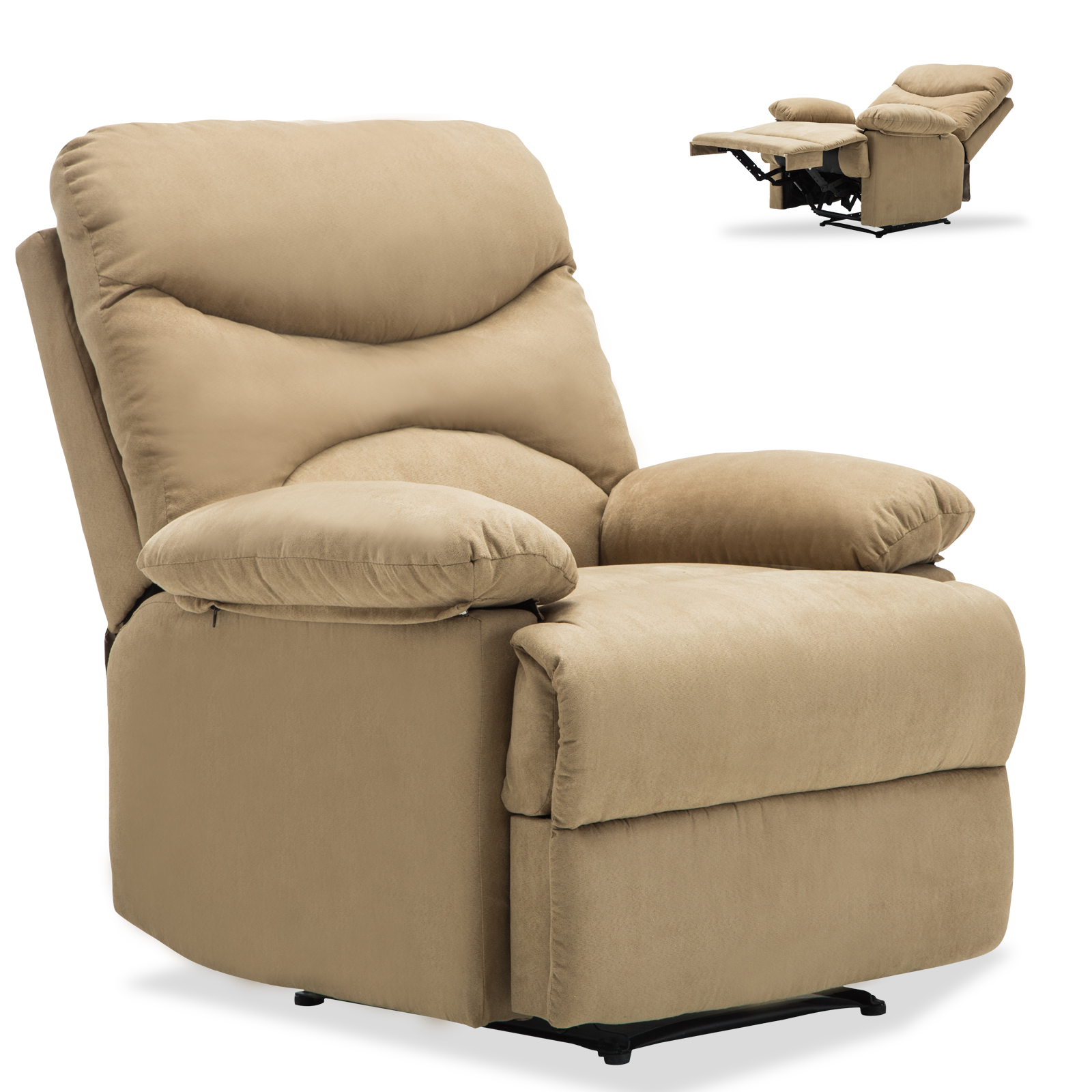Ergonomic Massage Recliner Sofa Chair Microfiber Lounge Heated W Control