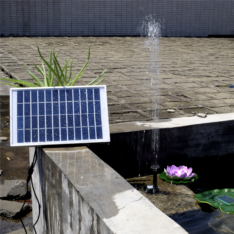 12v 5w solar powered water pump fountain pool garden pond for Solar fish for pools
