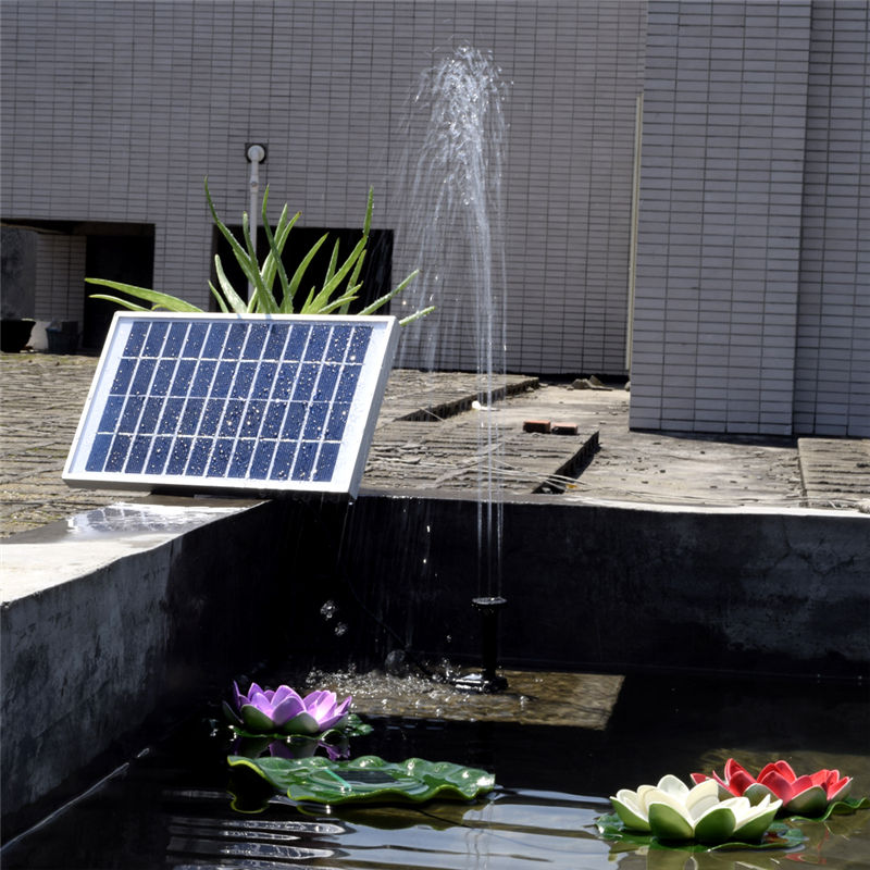 submersible solar powered fountain water pump garden pond pool feature 12v 5w ebay. Black Bedroom Furniture Sets. Home Design Ideas