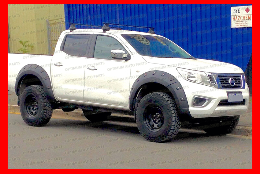 wrinkle fender flares wheel arch to suit nissan navara d23 np300 2014 2018 ebay. Black Bedroom Furniture Sets. Home Design Ideas