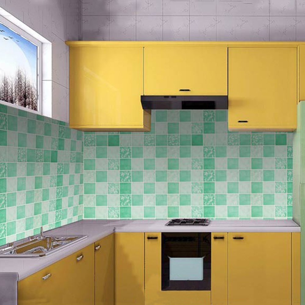 Wall Decor Contact Paper : Yazi self adhesive wallpaper green contact paper wall