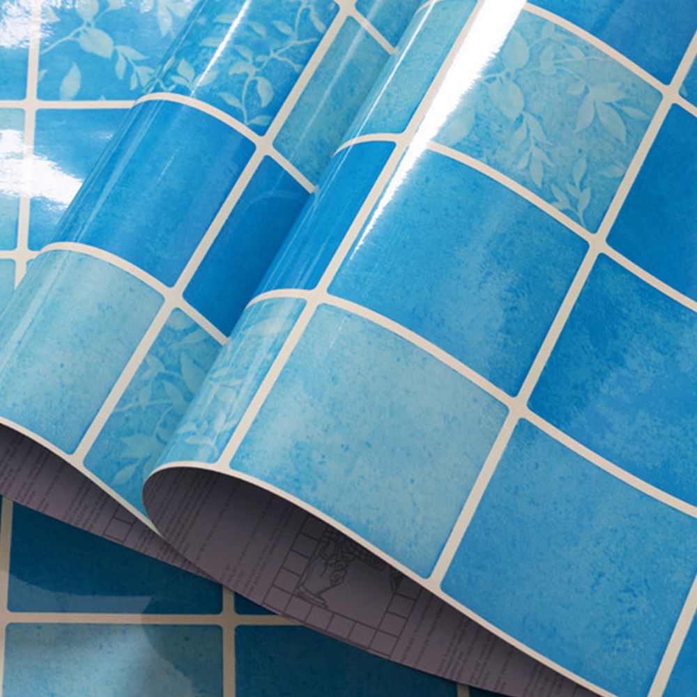 Wall Decor Contact Paper : Yazi self adhesive wallpaper blue contact paper wall decor
