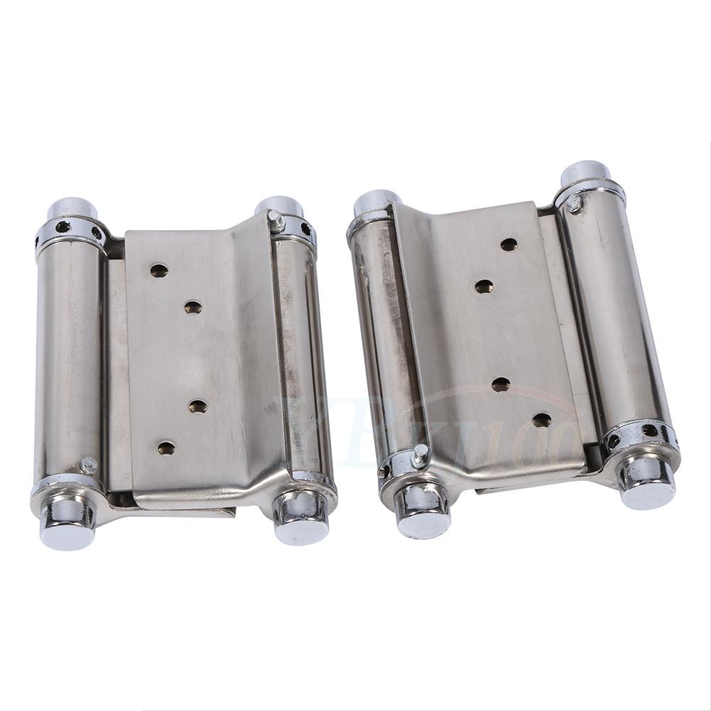 Saloon Door Hinges : Stainless steel inch double action spring hinge saloon