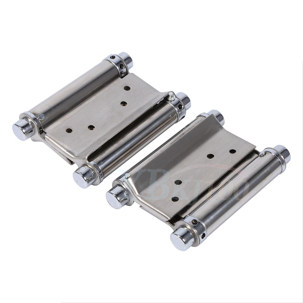 Saloon Door Hinges : Pcs inch double action spring hinge with screws for