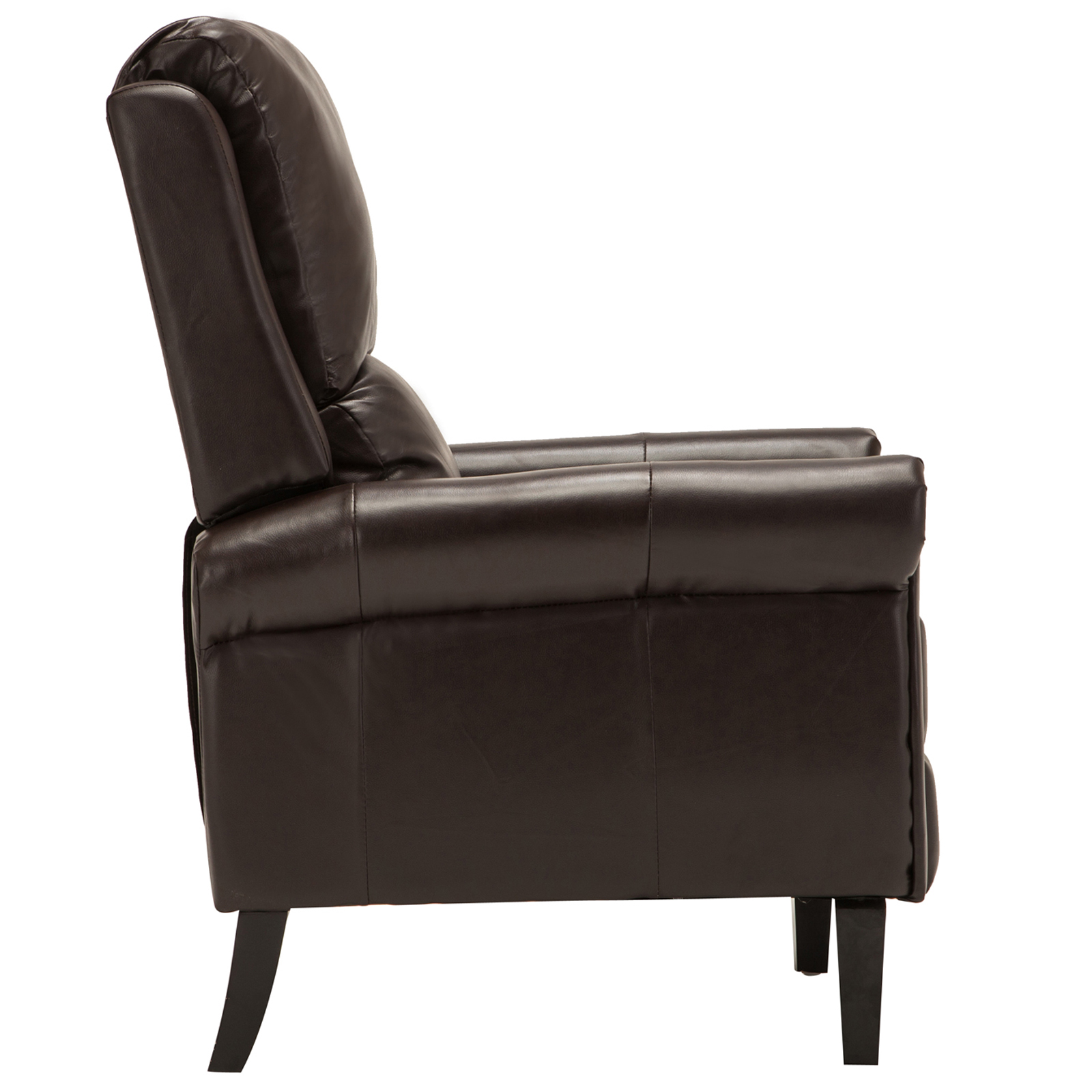 brown leather recliner armchair accent chair w leg rest living room