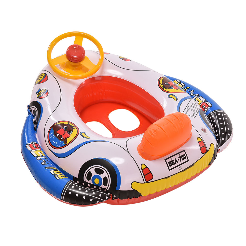 Baby Kids Swimming Ring Seat Boat Ring Inflatable Swim Aid ...