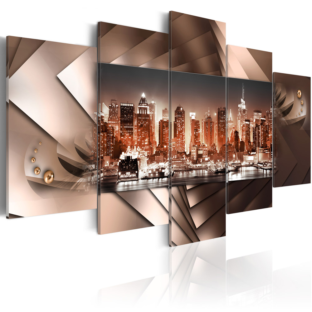 Canvas Print Picture Wall Art Home Decor Framed Abstract New York City Skyline Ebay