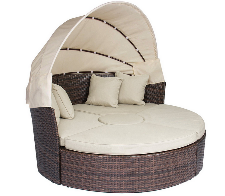 Patio Furniture Wicker Rattan Outdoor Daybeds With Canopy